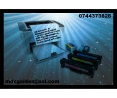 Servicii de reincarcare cartuse toner pentru multifunctionale, copiatoare, imprimante si faxuri .