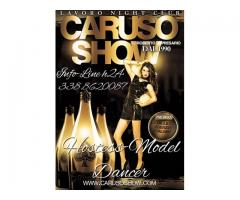 Agentia CarusoShow ofer job pentru hostess in night club-uri din Italia