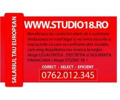 1600 LEI salariu model incepator. Aplica http://www.studio18.ro