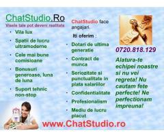 Salariu fix 3000 LEI + comision. Aplica pe ChatStudio.ro