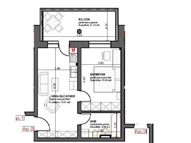 studio  modern in constructie noua rezidentiala la 3 minute  de CORESI si prin credite  bancare