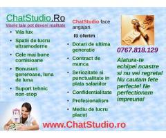 Salariul porneste de la 2000 lei. Aplica pe ChatStudio.ro