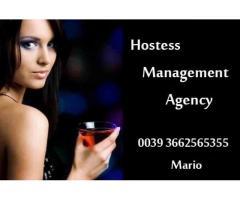 Colaboratoare drink hostess pentru club in -italia