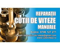 Reparații cutii de viteze manuale
