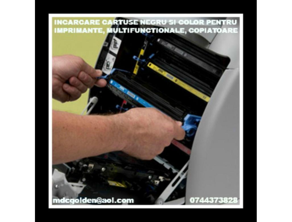 Incarcare si comercializare consumabile imprimante, multifunctionale, copiatoare, faxuri.