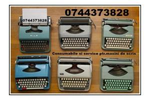 Depanare si consumabile ptr.masini de scris.
