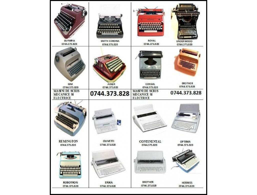 Reparatii&Mentenanta masini de scris mecanice si electrice, consumabile.
