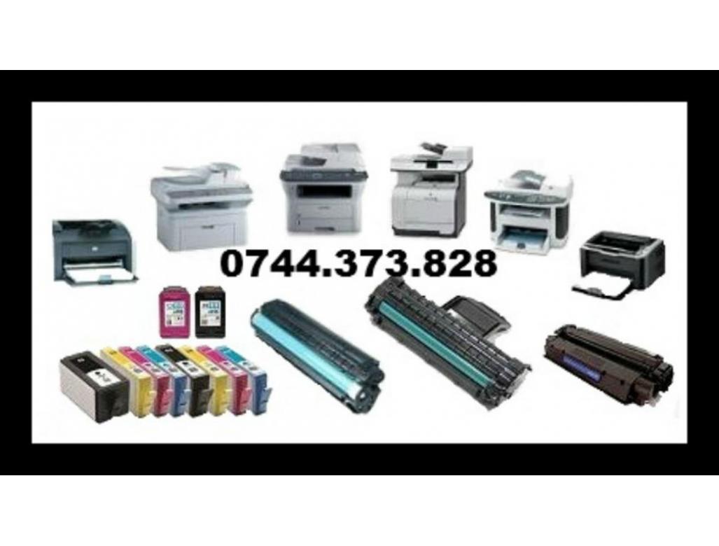 Reincarcari cartuse pentru imprimante, multifunctionale, faxuri si copiatoare.