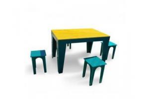 Masa cu 4 scaune pentru gradina