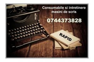 Consumabile si Intretinere ptr.masini de scris mecanice si electrice.