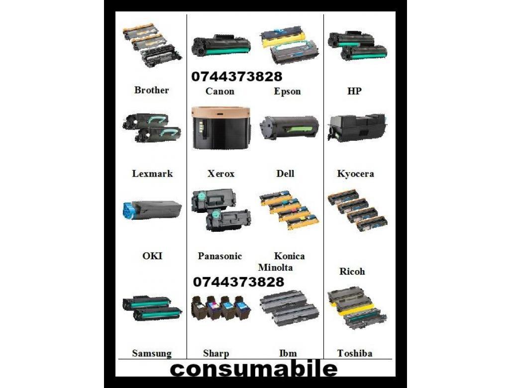 Consumabile ptr. imprimante, multifunctionale, copiatoare si faxuri.