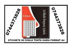 Etichete hartie in coala A4 cu livrare la sediul dvs.