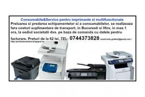 Consumabile si service ptr. imprimante si multifunctionale-livrare GRATUITA Bucuresti si Ilfov.
