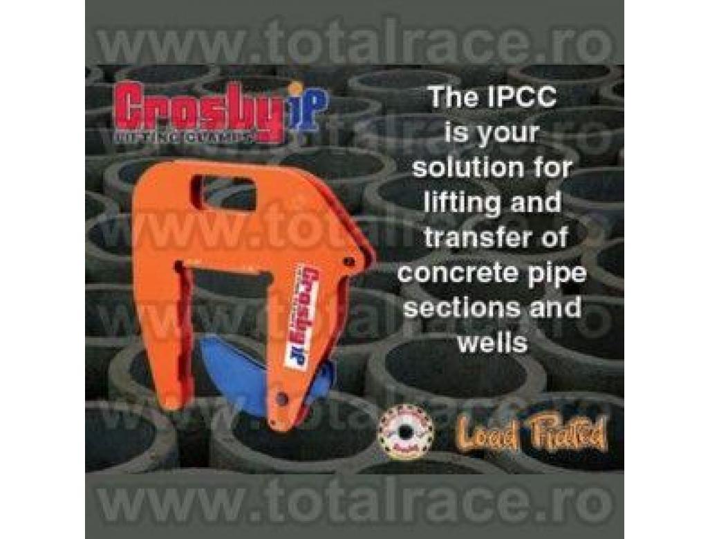 Dispozitiv universal de manevrare din clesti de ridicat pentru tuburi beton model IPCC