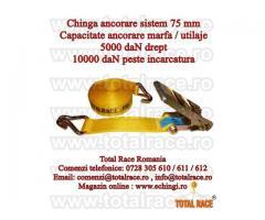 Chingi fixare/legare/arimare transport marfa 10 tone, 12 metri